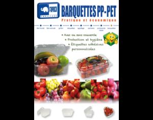 Barquettes Plastique PP - PET